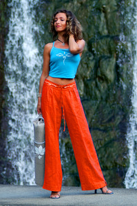 Leinenhose Classic orange